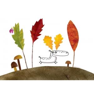 Affichette C'est l'automne chez les rennes