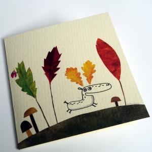 Carte C'est l'automne chez les rennes
