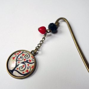 Bookmark Red Hearts tree
