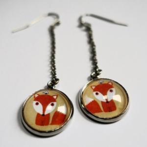 Boucles d'oreilles Petit renard