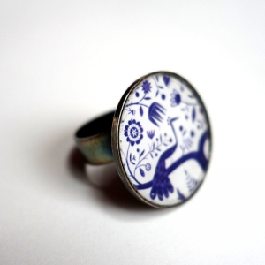 Round ring Blue peacock