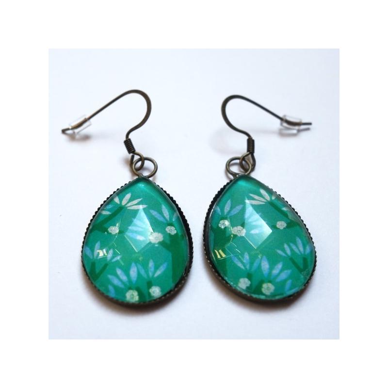 Boucles d'oreilles Cerisiers bleus