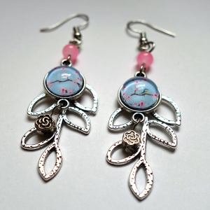 Leaf earrings Sakura