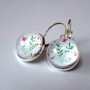 Boucles d'oreilles Livre printemps