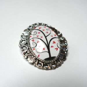 Cameo Pink heart tree