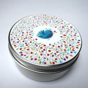 Boîte à miscellanées ronde Les couleurs