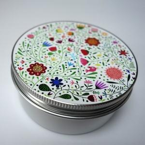 Boîte à miscellanées ronde Bouquet de fleurs