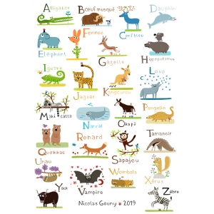 ABC of wild animals