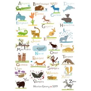 Print ABC of wild animals