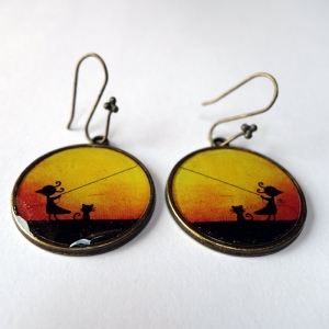 Earrings September wind