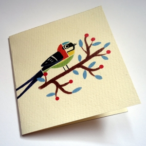 Card Patchwork birds