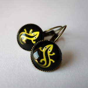 Earrings Salamander
