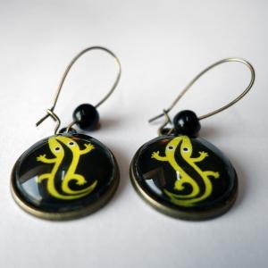 Boucles d'oreilles La salamandre