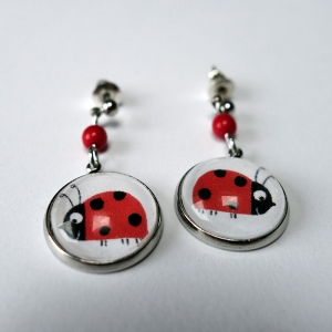 Earrings Ladybugs