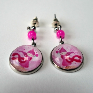 Earrings Pink princess