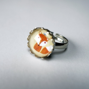 Kid ring Tiny fox