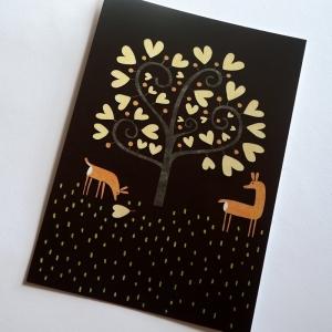 Carte postale Les chevreuils