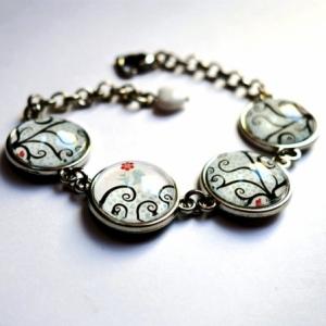 Bracelet Arbre à coeurs bleus