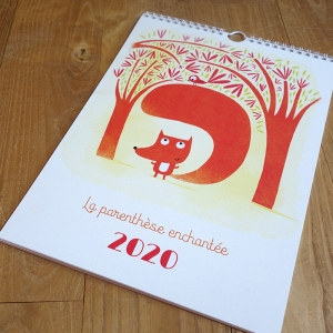 2020 Wall calendar Tiny fox