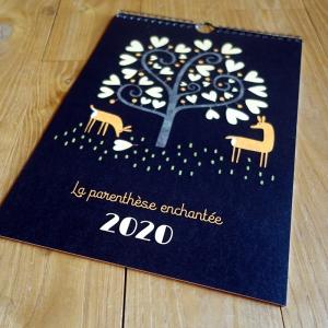 2020 Wall calendar Deers