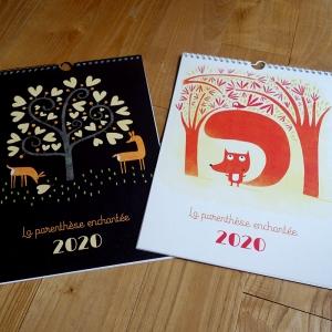 Lot de deux calendriers muraux 2020