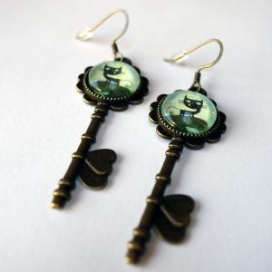 Boucles d'oreilles clés Malo