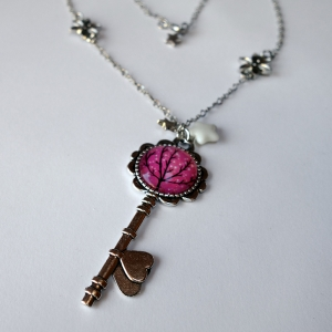 Key necklace Sparkling tree