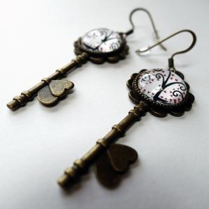 Boucles d'oreilles clés Arbre de lune