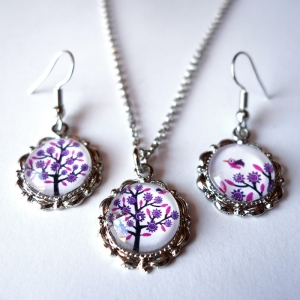 Jewelry set Violet tree