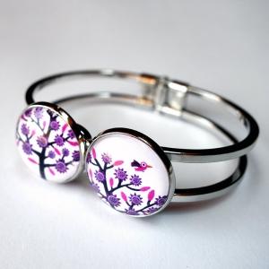 Double bracelet Violet tree