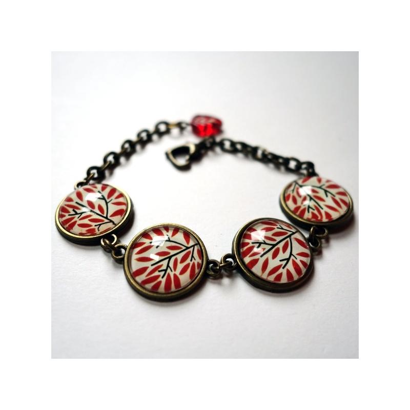 Bracelets Feuillage rouge