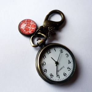 Keychain watch Orange leaves