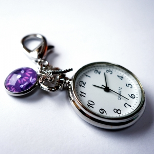 Keychain watch Purple cherries
