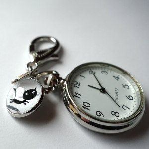 Keychain watch Théodule the cat