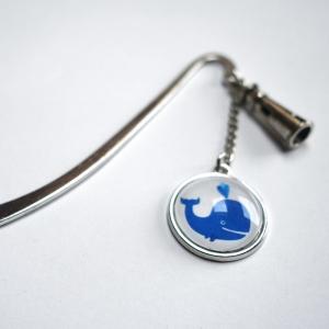 Marque-page Baleine bleue