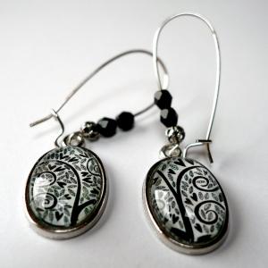 Earrings Black hearts