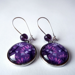 Earrings Violet cherries