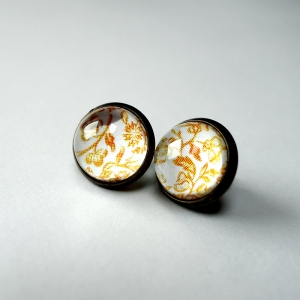 Earrings Yellow roses