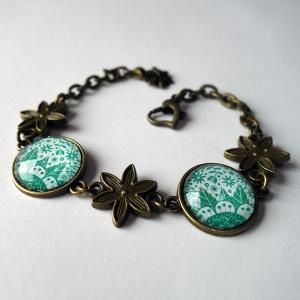 Bracelet Les fleurs émeraude