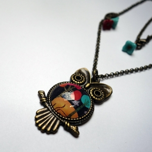 Owl necklace Melted trees