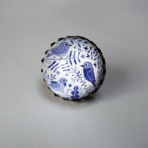 Round ring Purple birds