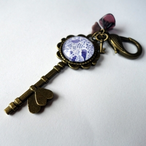Keychain Purple birds