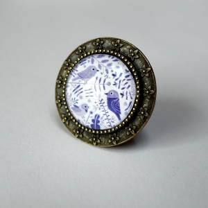 Round ring Purple birds