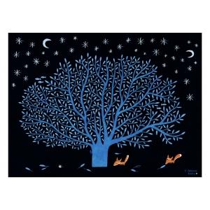 The big blue tree