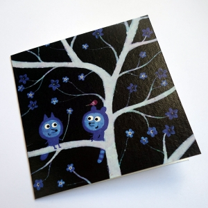 Card Forget-me-not tree
