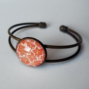 Bracelet Feuilles d'érable oranges
