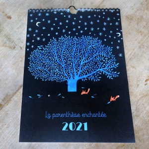 2021 Wall calendar Blue oak