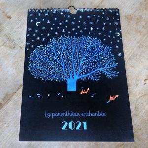 Calendrier mural 2021 L'arbre bleu