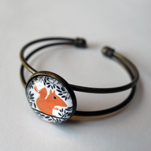 Cuff bracelet The squirrel