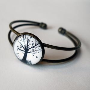 Cuff bracelet Hearts tree